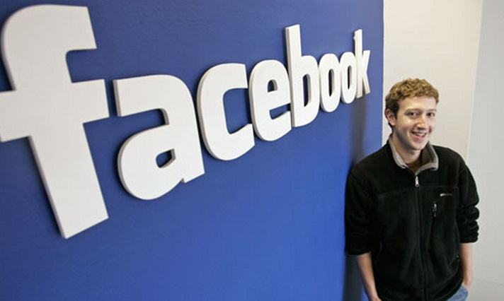 Facebook Logo and Mark Zuckerberg Picture