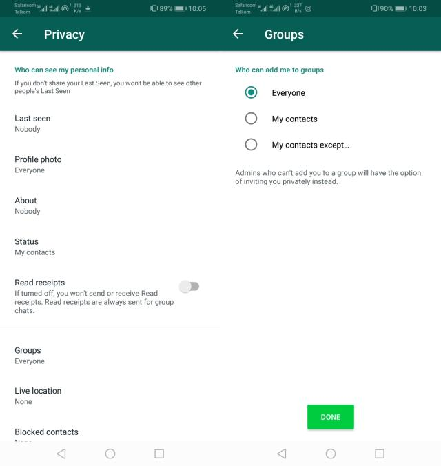 Control Who Adds You to Whatsapp Groups